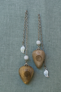 White Stinkwood Pendulums with moon stone bead
